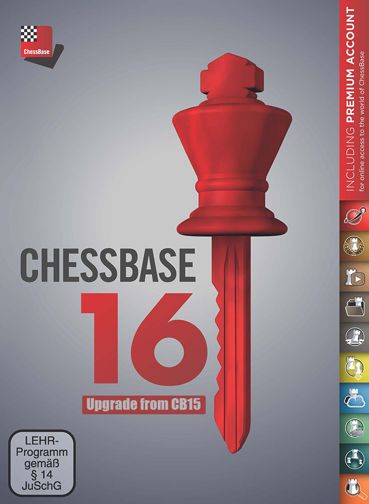 ChessBase 16 - Upgrade from CB15 (PC-DVD)