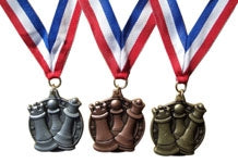 Chess Medal - (Gold, Silver, Bronze)