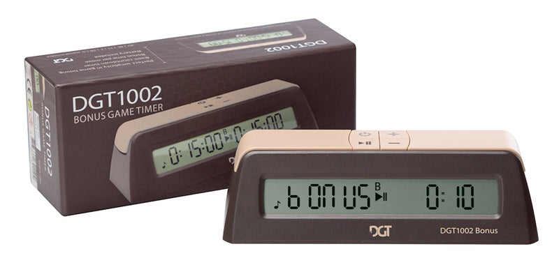 DGT 1002 Digital Chess Clock with Bonus Timer