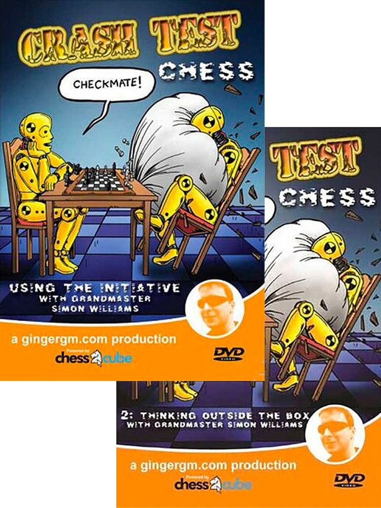 Crash Test Chess Part 1 and 2 with GM Simon Williams (2 DVDs)
