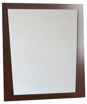 29.5-in. W 33.5-in. H Modern Plywood-Melamine Wood Mirror In Wenge