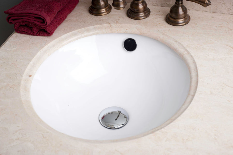 16-in. W 16-in. D CUPC Certified Round Undermount Sink In White Color