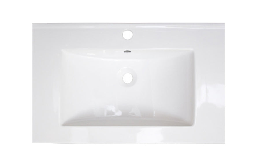 23.75-in. W 18.25-in. D Ceramic Top In White Color For 1 Hole Faucet
