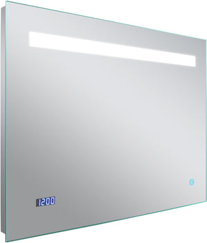 28-in. W Rectangle Aluminum Wall Mount LED Backlit Mirror In Aluminum Color