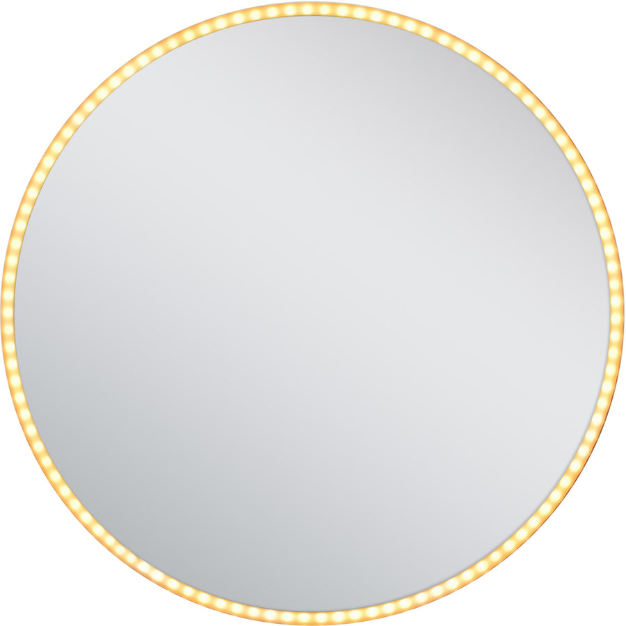 24-in. W Round Aluminum Wall Mount LED Backlit Mirror In Aluminum Color