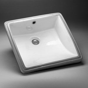 17-in. W 17-in. D CUPC Certified Square Undermount Sink In White Color