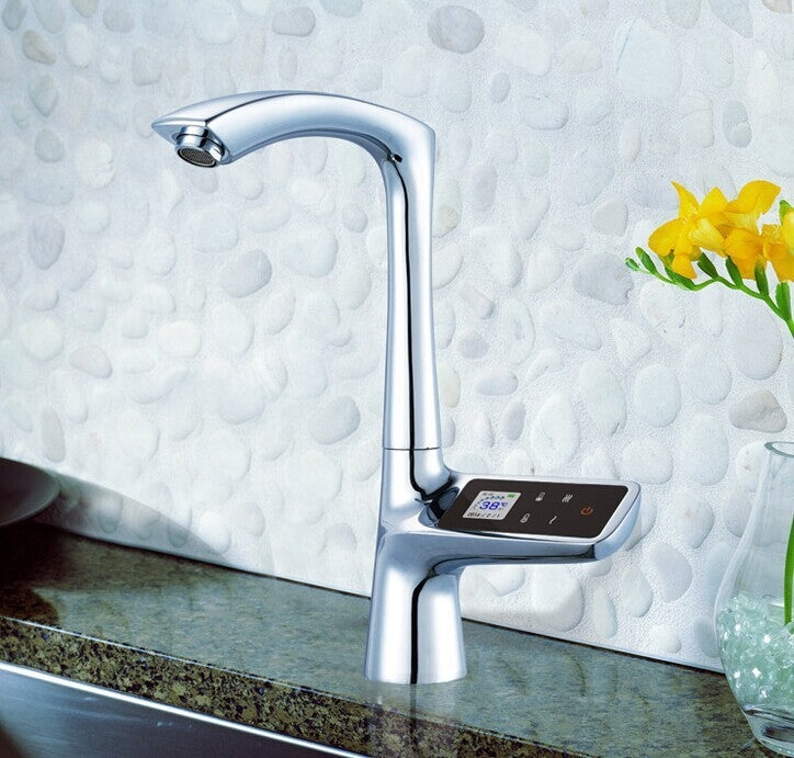 Alea Digital Display Kitchen Sink Faucet