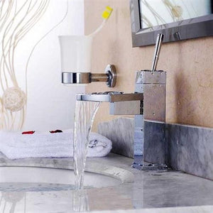 Lenox Contemporary Waterfall Bathroom Sink Faucet