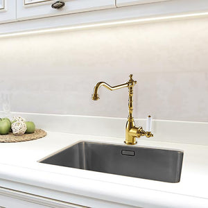 Contemporary Design Brass Luxury Gold Color Kitchen Faucet