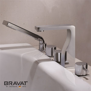 5 hole bathtub shower faucet import import from Swiss F56018C-2
