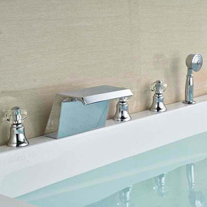 Siena Chrome Finish Solid Brass Bathtub Faucet