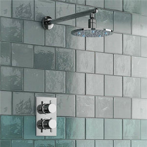 Fontana Round Thermostatic Mixer Shower Set with Optional LED Lighting