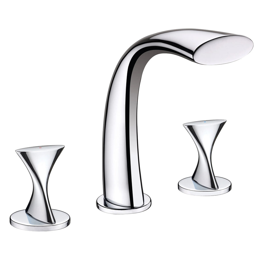 Holguin Dual Handle Deck Mounted Bath Tub Faucet
