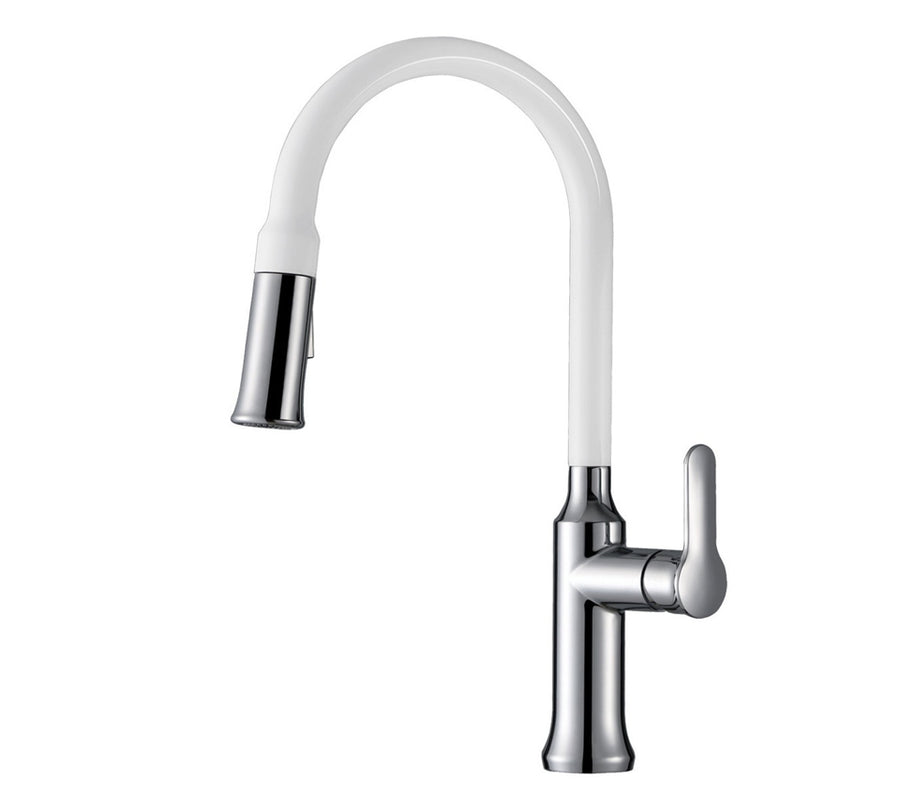 Avellino Stainless Steel Single Handle Kitchen Faucet