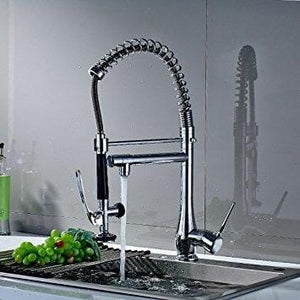 Silvano European High Quality Chrome Single Handle Swivel Spout Kitchen Faucet