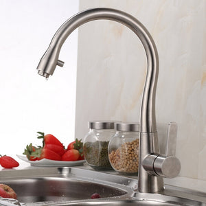 Afragola Brushed Nickel Deck Mounted Stainless Steel Kitchen Faucet