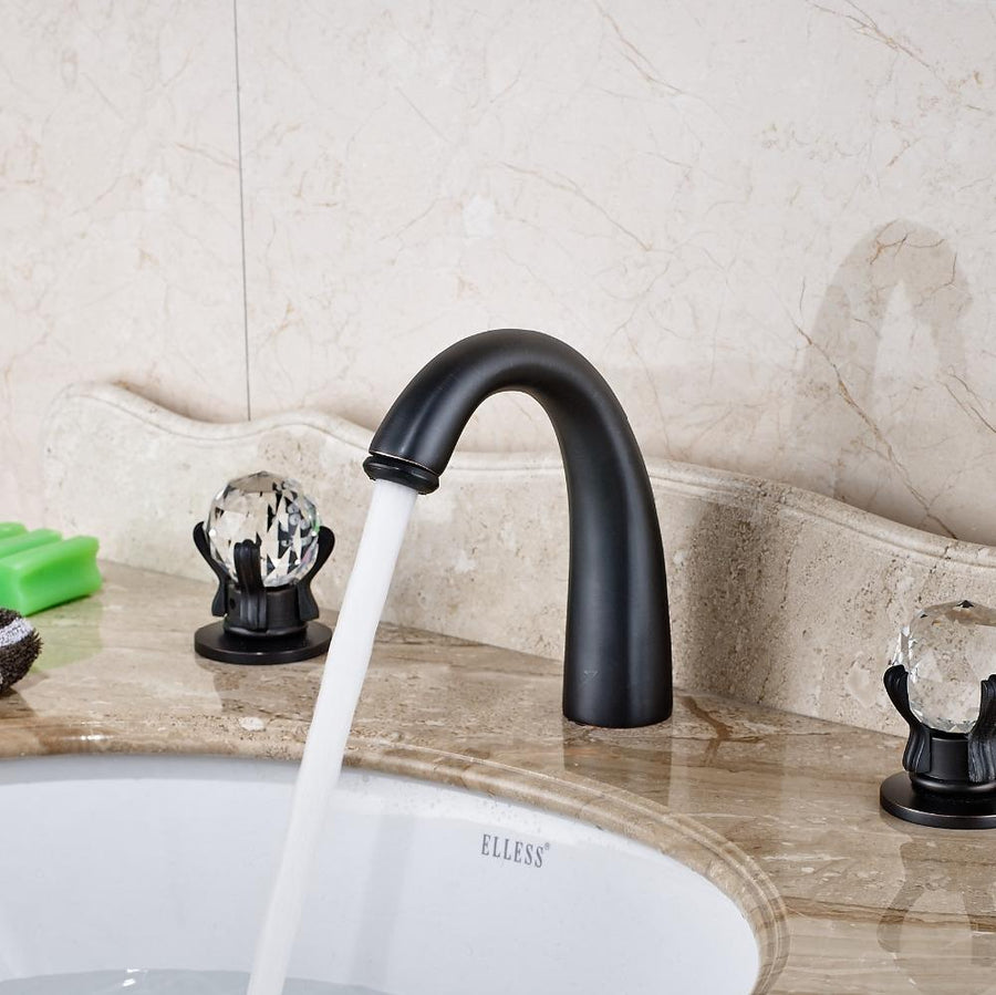 L'Aquila Oil Rubbed Bronze Bathroom Sink Faucet
