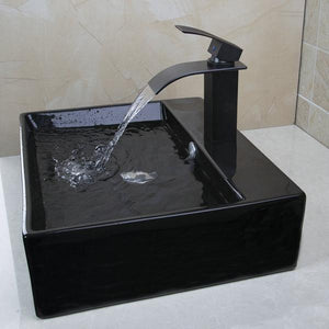 Naples Oval Bathroom Sink with Overflow & Faucet