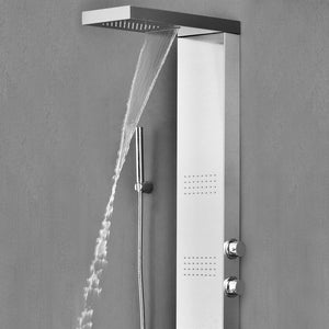 Alberni Stainless Steel Shower Panel with Massage Jets & Hand Shower