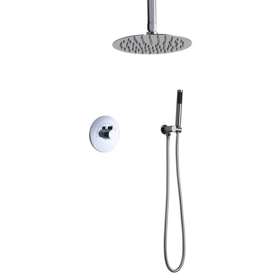 Fontana Lima 2-way shower set - round chromed brass shower head