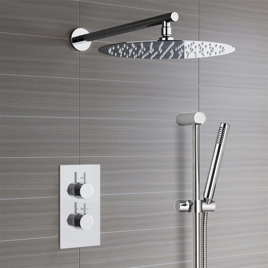 Trialo Shower Set with Built in Thermostatic Mixing Valve and Hand Held