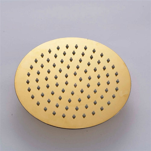 Designer Wall Mount Gold Finish Single Lever Round Shower Set with Handheld Shower Head