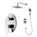 Monza Wall Mount Bathroom Rain Shower Set