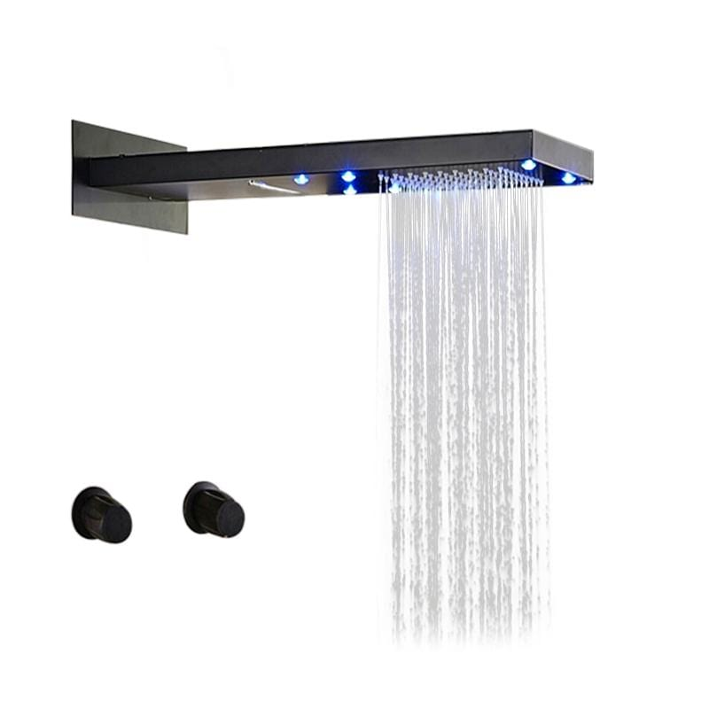 Napoli Oil Rubbed Bronze Finish LED Waterfall Rain Shower Set