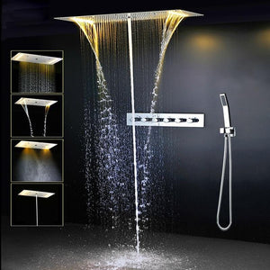Livorno Recessed Rainfall LED Shower System