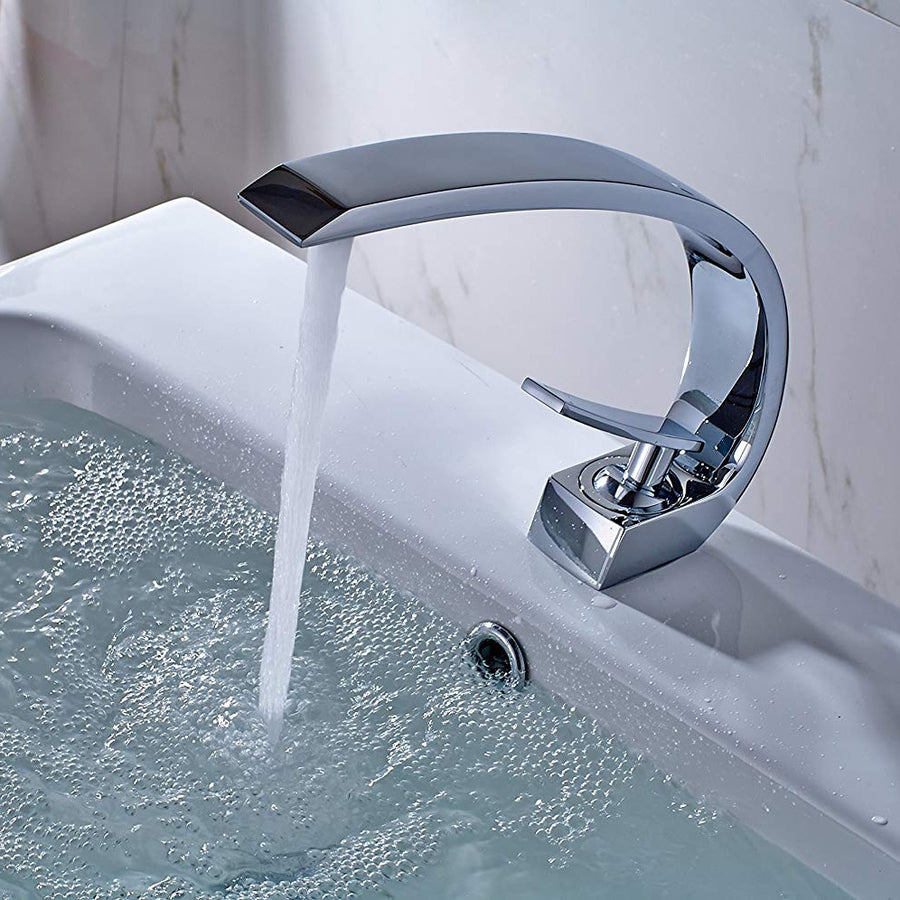 Geneva Chrome Finish Bathroom Sink Faucet
