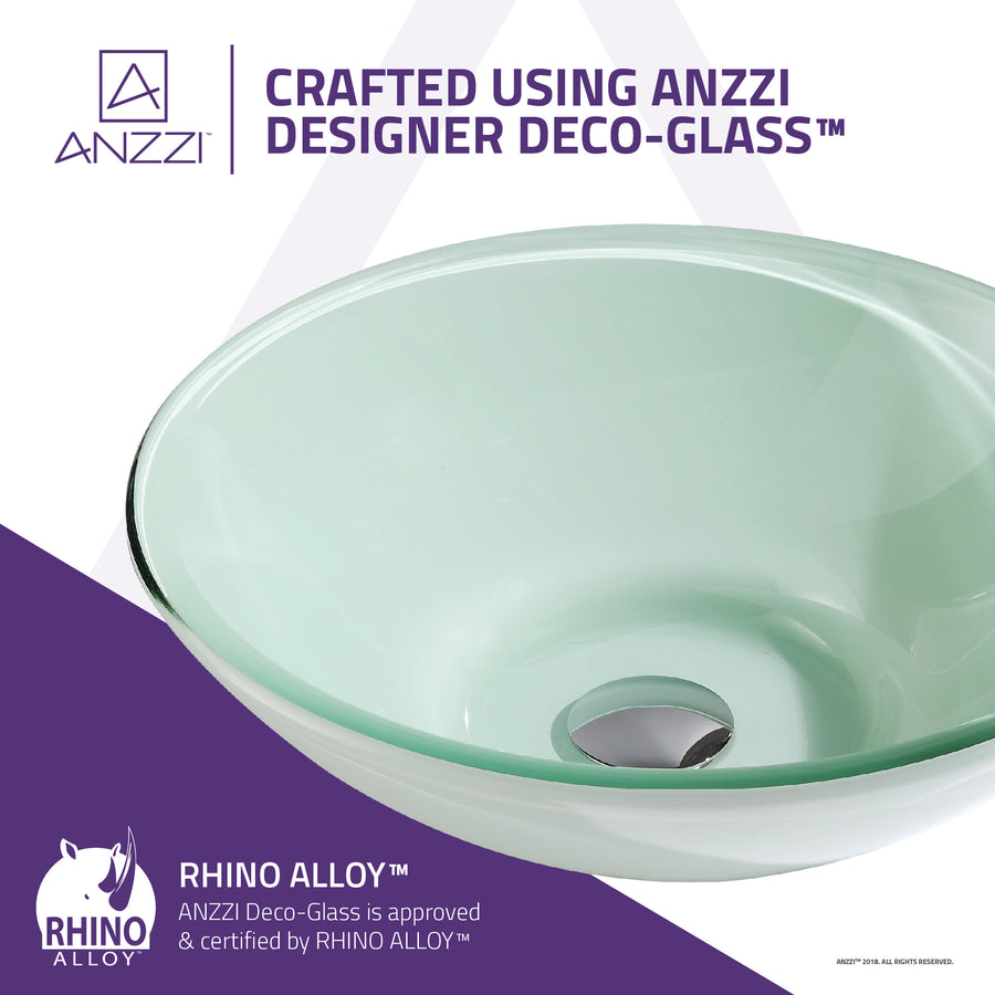 Sonata Series Deco-Glass Vessel Sink in Lustrous Light Green