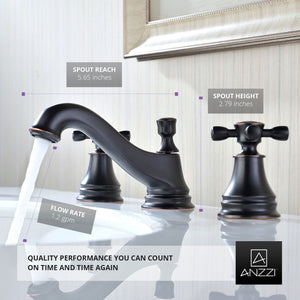 Melody Series 8 in. Widespread 2-Handle Mid-Arc Bathroom Faucet in Oil Rubbed Bronze