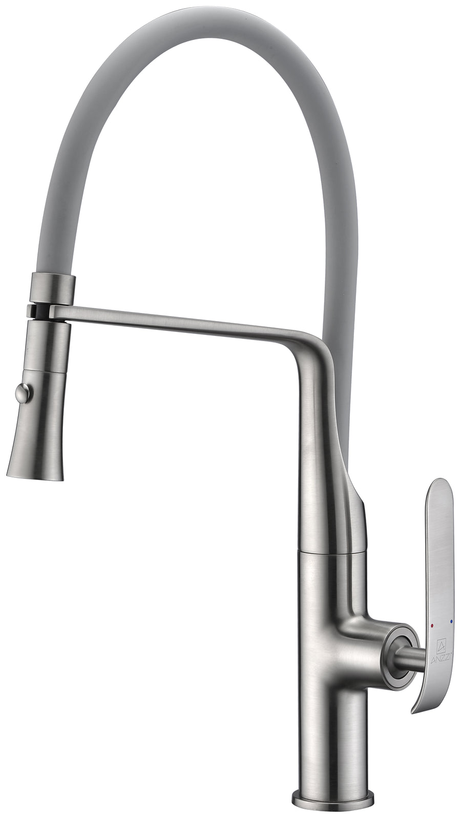 Accent Single Handle Pull-Down Sprayer Kitchen Faucet in Brushed Nickel