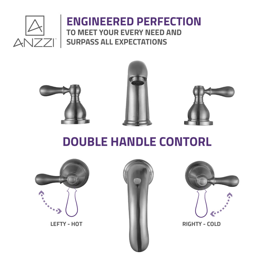 Merchant 8 in. Widespread 2-Handle Bathroom Faucet in Brushed Nickel