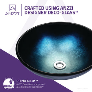 Stellar Series Deco-Glass Vessel Sink in Deep Sea