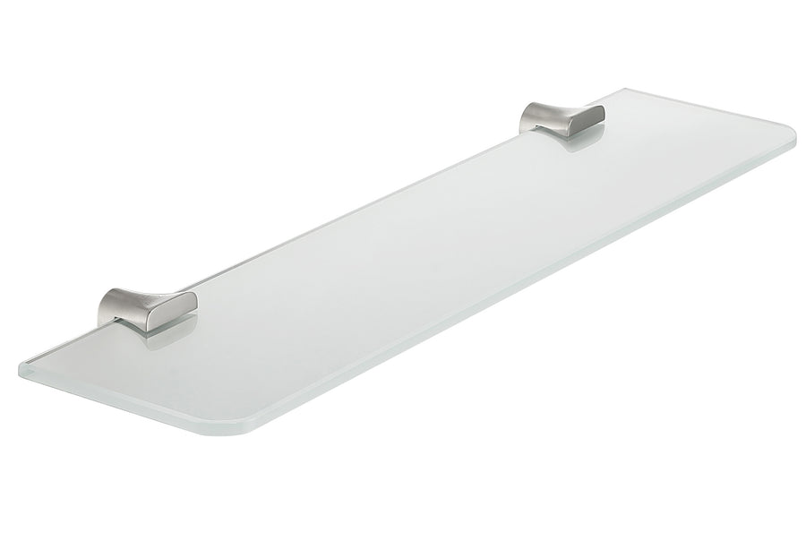 Essence Series Glass Shelf in Brushed Nickel