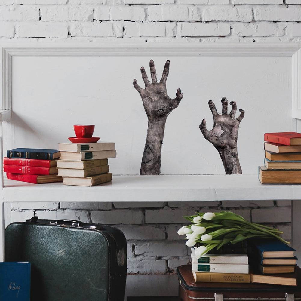 Removable Halloween Wall Sticker Scary Hands Pattern