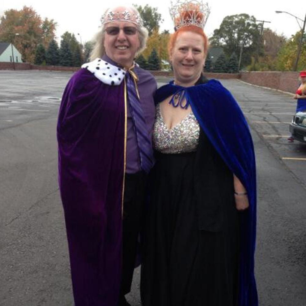 Halloween Decoration Adult King Queen Robe Unisex Royal
