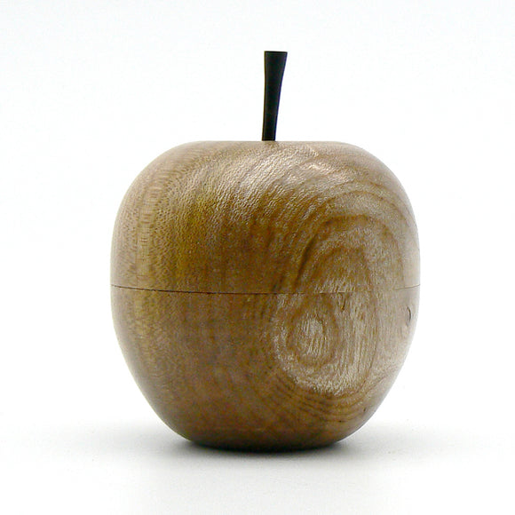 Apple Lidded Box in Elm and Ebony