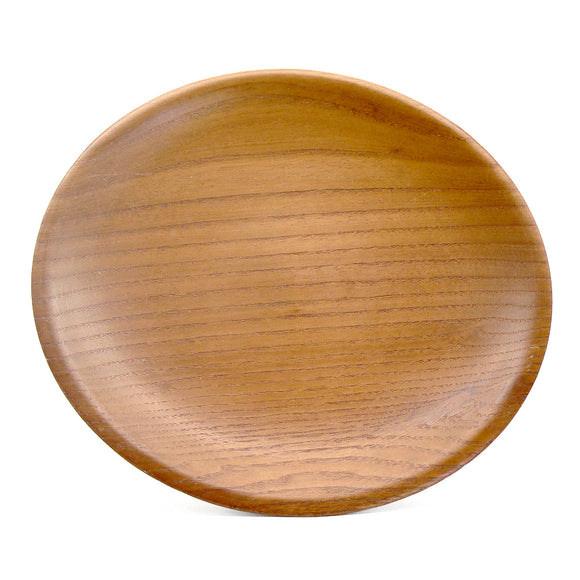 Plate in Orange-Tone Wood