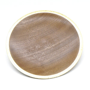 Plate in Sapele with Gold Leaf Rim