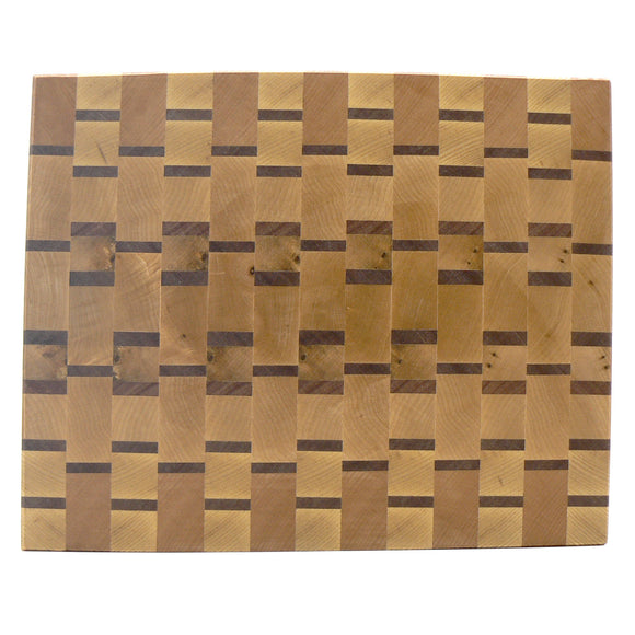 End-Grain Chopping Board in Ash and Meranti
