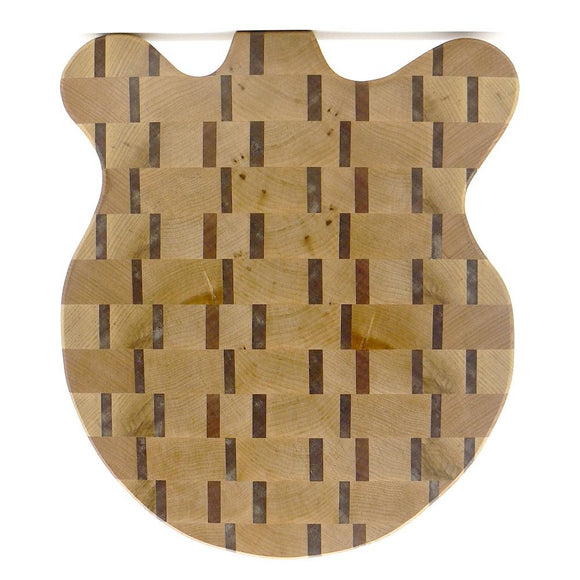 Guitar Shaped End-Grain Chopping Board in Ash and Meranti