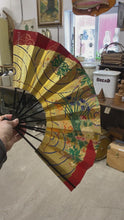 Load and play video in Gallery viewer, Collection of Vintage Chinese & Japanese Fans