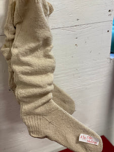 Homemade Socks on Wire Forms