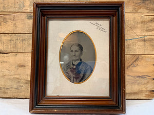 Tin Photo with Wooden Frame