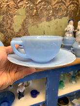Load image into Gallery viewer, Fire-King Blue Delphite Cup & Saucer