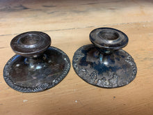 Load image into Gallery viewer, Mismatched Pewter Candlestick Holders