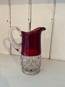 1906 Souvenir Glass Pitcher