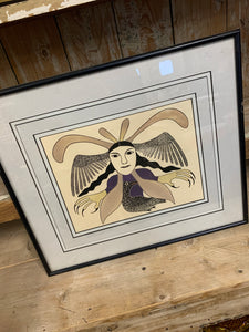 James Huston Inuit Art Print - Raven